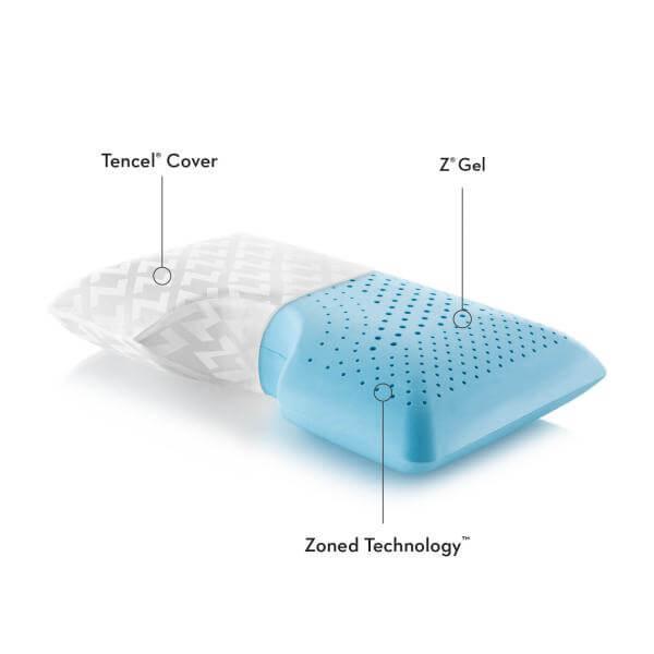 Z Shoulder Zoned Gel Dough Pillow By Malouf Fine Linens