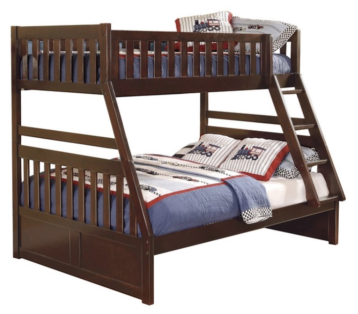 Homelegance Youth Rowe Collection Twin Full Bunk Bed Tampa Bay Mattresses