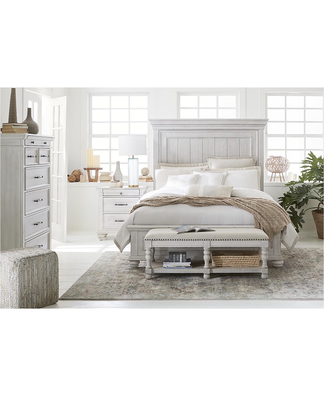 Queen 4 Pc Antique White Bedroom Set Tampa Bay Mattresses