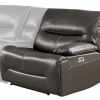 Homelegance Dyersburg Collection 6-Piece Brown Power Reclining Sectional